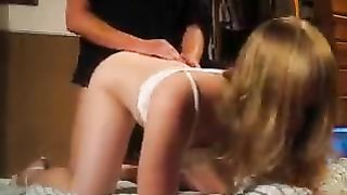 nice young blonde bends over and gets fucked