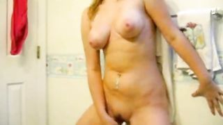 Stolen video. My slut sister masturbates in WC