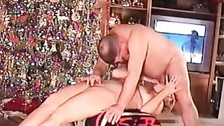 A old video shot one Xmas of wife sucking,We found this video and wanted to put it up of wife sucking a cock for a nice present and yes she got one