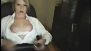 Webcam - My blonde girl showing tits 4u