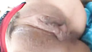 Asian girl fucked real hard and then takes a shower