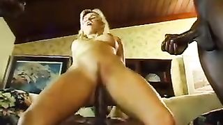 Hot Blonde Wife Gets Gangbanged and Creampied by 5 Horny Black Guys