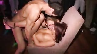 Horny minxes reamed hardcore at college party