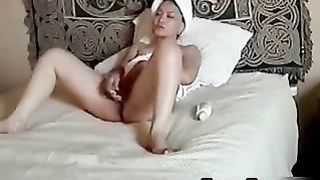 Asian MILF masturbates after shower Husband's hidden camera catches his wife playing with her pussy after she gets out of the shower