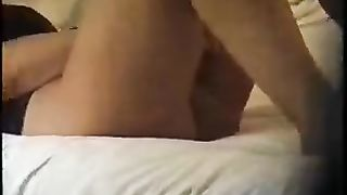She doesn't know husband is taping her Hot MILF massages her clit and pussy on her bed with a vibrator while hubby secretly records the action