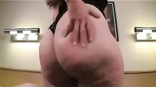 My scorching horny white wife is damn proud of her huge bewitching ass