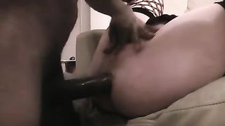 Interracial anal homemade sex scene with me and my dirty slut wife