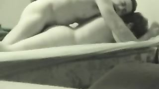 My short-haired horny white wife lets me fuck her bawdy cleft froggystyle