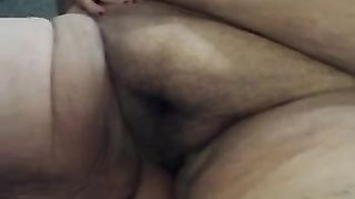 Hairy vagina shaving procedure with my BBW aged Married slut