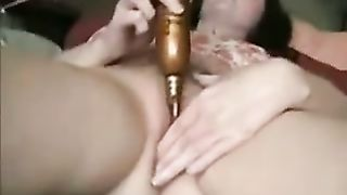 My breasty hotwife toys her pussy and acquires it slammed by me