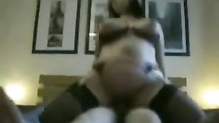 Busty dark brown milf big beautiful woman BBC slut passionately rides me on top