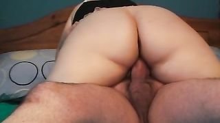 My chunky tattooed slutwife rides my jock and doesn't want to stop