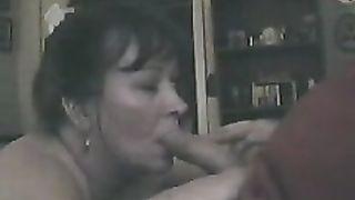 Darn worthy mother I'd like to fuck Wife enjoying engulfing a big schlong
