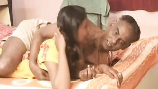 Hot diminutive Indian youthful cheating wife and her grandpa spouse