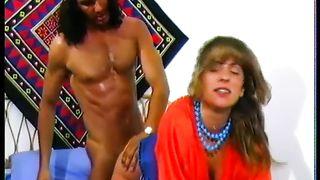 Hippie stud with lengthy hard wang bangs diminutive milf doggy style