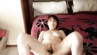 My lascivious slutty wife entertains herself by toying her coochie