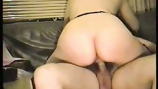 Curvaceous black cock sluts riding my cock on the bed in front of web camera