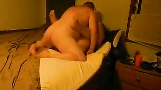My plump horny white wife gives head to me and lets me smash her love tunnel