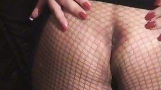 big beautiful woman cougar golden-haired girl in the mask giving me head