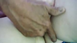Fingering fucking my lascivious aged white bitch until this babe reaches big O