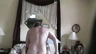 Hidden cam in the bedroom caught my horny white wife with another man