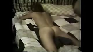 My insatiable perverted wifey rubs her love tunnel against the pillow