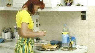 Innocente svelte redhead hottie acquires screwed on the kitchen