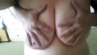I love playing with my corpulent big beautiful woman wife's large natural G cup tits