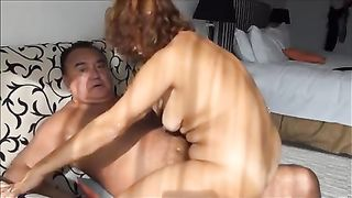 Mature Asian wench gets mercilessly drilled from behind