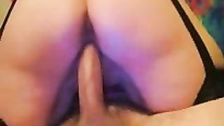 My black cock sluts desires me to ejaculate inside her on camera