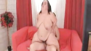 Fat black cock slut dwarf wife drilled with a white large dong