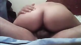 Hot and soaked latin babe gazoo of my girlfriend riding me on top