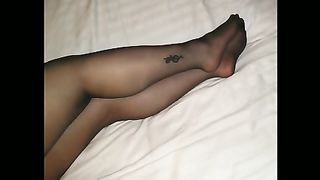 My salacious slutwife knows how to give astounding footjob