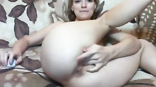 Hardcore homemade solo episode with my sexy ex-wife rubbing her pussy