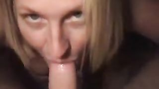 Cum starving blonde black cock sluts gives me ardent oral sex