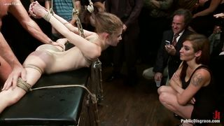 Wild slutty wife getting drilled by each dude in the club