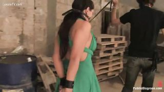 Submissive brunette hair unleashes her sexual enjoyment and screwed by jules
