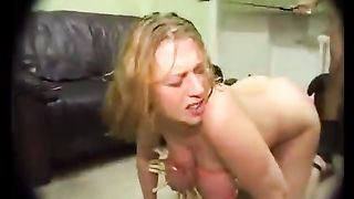 Blondie receives into a gang bang