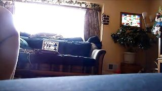 Homemade movie of a dog licking his dominant