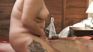 Chunky amateur wife blowing my rod and riding my 10-Pounder on top
