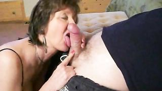 Mature brunette black cock slut was ready to engulf my rod actually quick