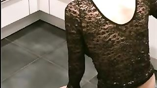 Fucking ass a champagne bottle or Fucking her anal with a champagne bottle