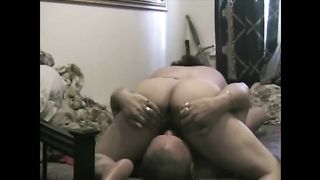 Homemade movie scene with me and my aged curvy black cock sluts having 69 oral-service sex