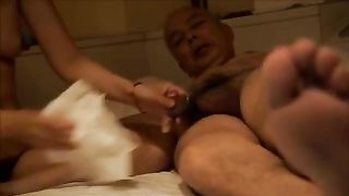 Playing naughty sex games with my older white wife on webcam
