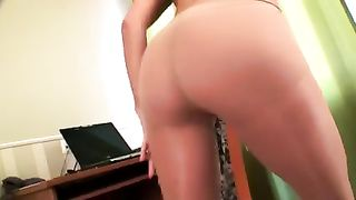 Hot dark brown cougar dirty slut wife stripteases when I film her on webcam