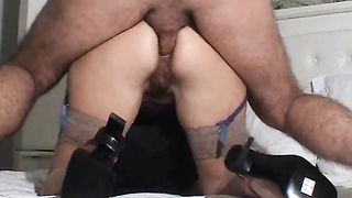 Rough doggy style anal sex with my flamboyant curvy wife - homemade