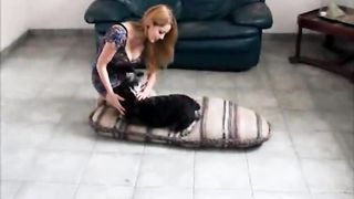 Stunning slutwife takes her loyal dogs shlong unfathomable