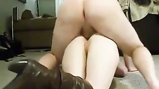My sizzling wifey enjoys passionate doggy style anal banging