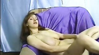 Awesome homemade solo with my juggy white women toying her trench