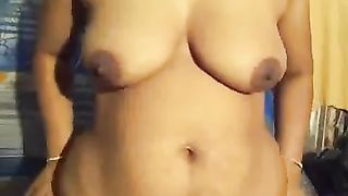 My milf white women with large booty and meatballs on home movie scene in nature's garb